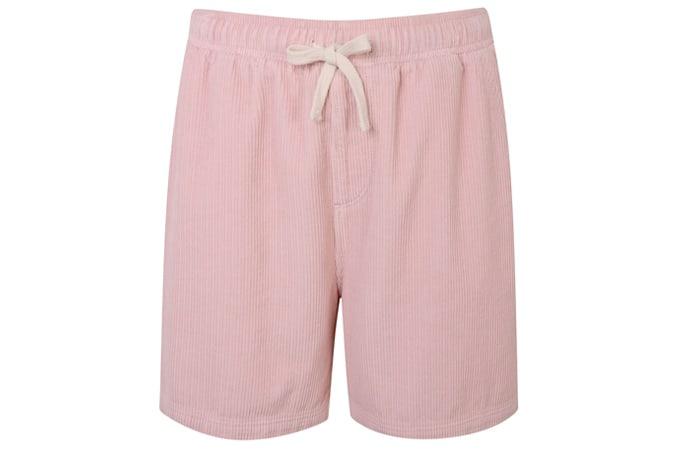 Short à cordon en velours côtelé rose BDG