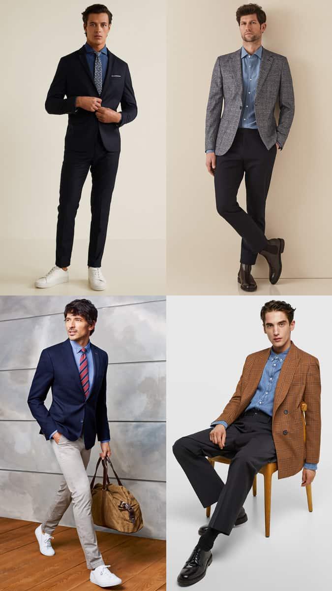 Comment porter une chemise en jean avec un costume