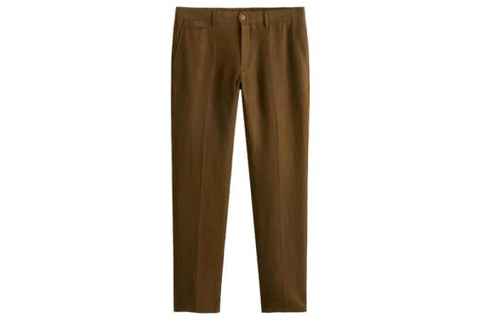 Pantalon slim en lin