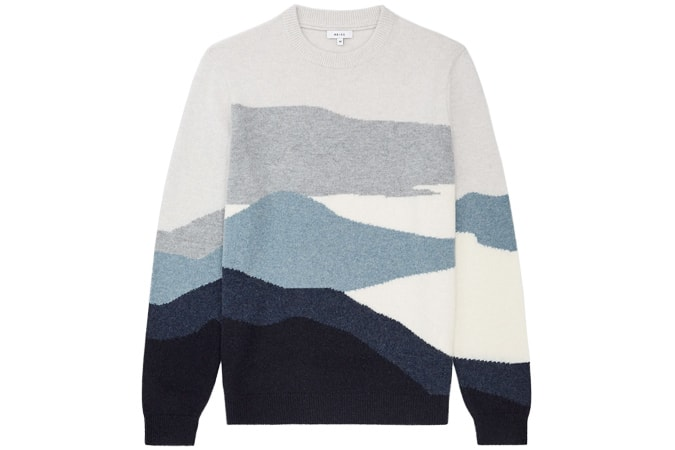 TURNER COLOUR BLOCKED CREW NECK JUMPER