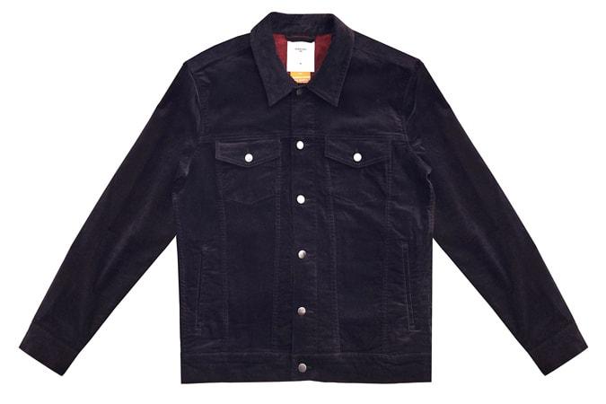 Western Jacket Black Cotton Suede