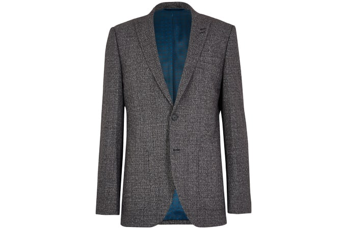 M&S COLLECTION Checked Slim Fit Jacket