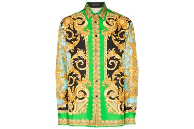 Chemise à imprimé baroque Versace