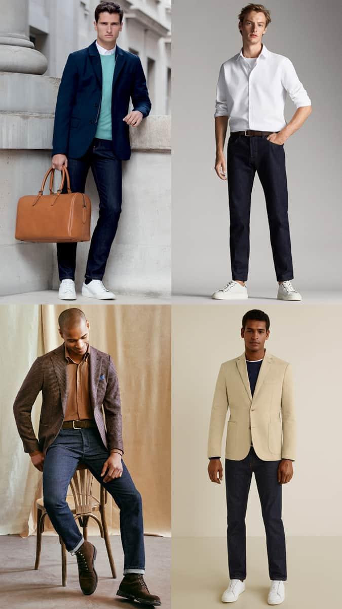 Comment porter un jean indigo pour travailler