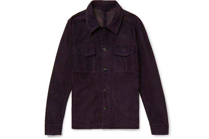 VALSTAR Veste-chemise slim en daim non doublé