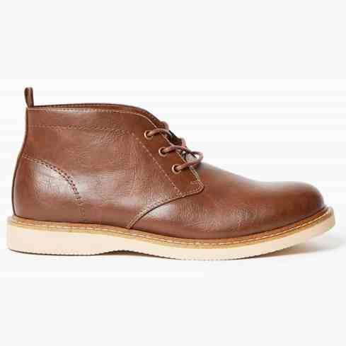 M&S COLLECTION - Bottines chukka à lacets