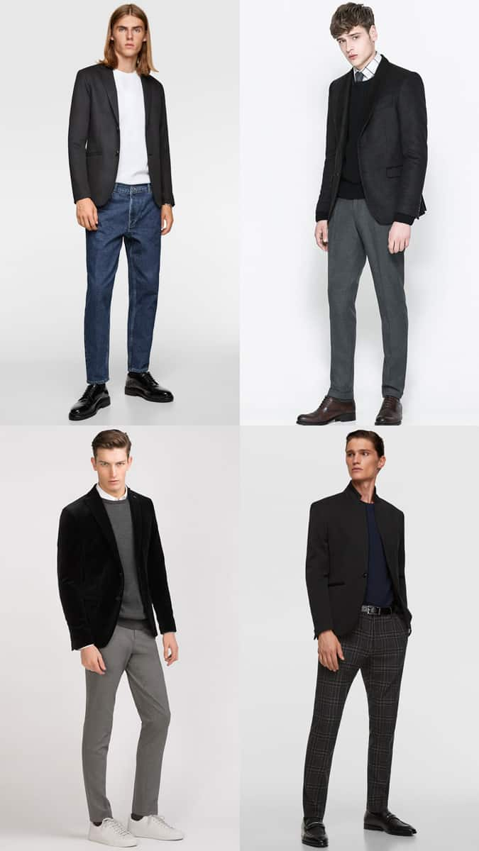 How To Wear Black Suit Separates