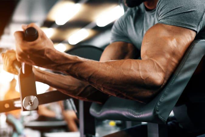Man Doing Arm Workout