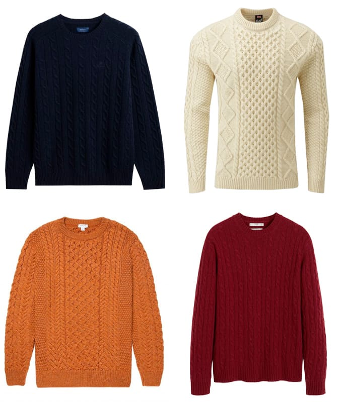 The best cable knit jumpers for men