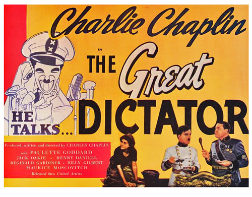 Image result for charlie chaplin the great dictator