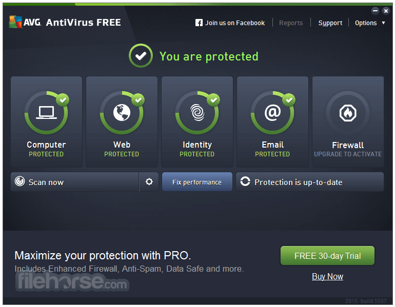 AVG Free Edition 2013 13.0.2742 (32-bit) Screenshot 1