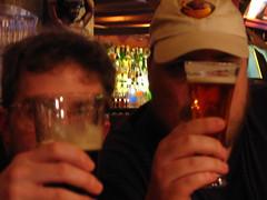 2 men with beers