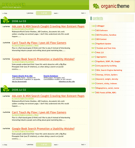reBlogger 4 - Organic theme