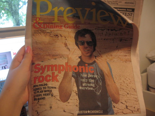 Ben Folds in the Preview Section