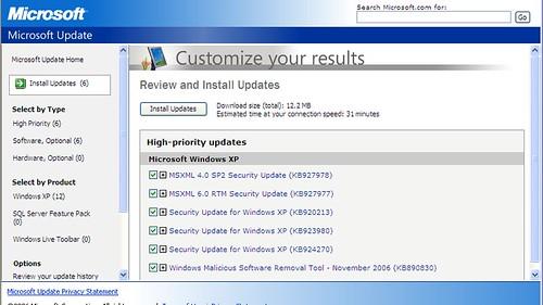 Microsoft critical security updates