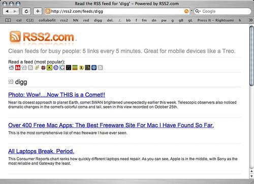 RSS2.com launches