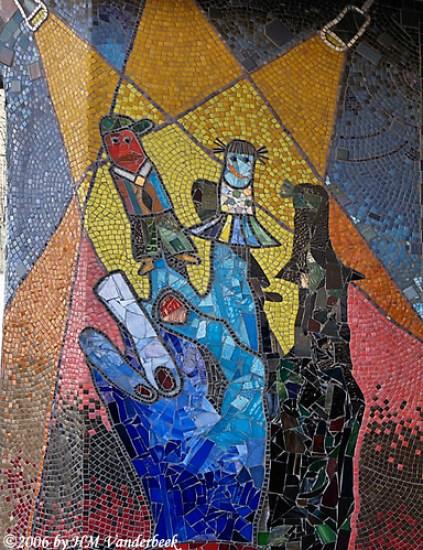 Finger Puppets Tile Mosaic