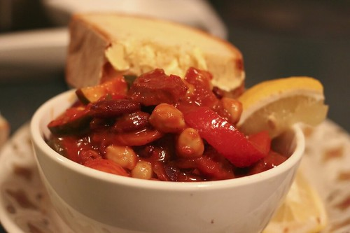 Chorizo and Chick pea stew