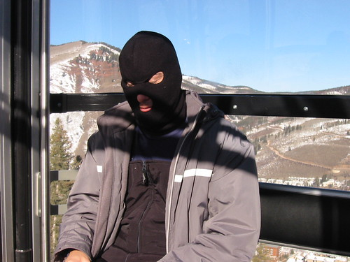 Friend with ski mask at Vail - 2002