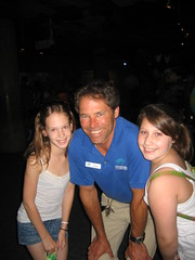 Micaela and Jessica with their host, Steve.