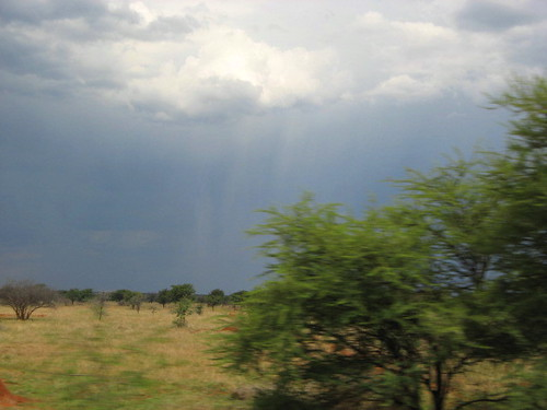 Sky on the road<br>  to Botswana