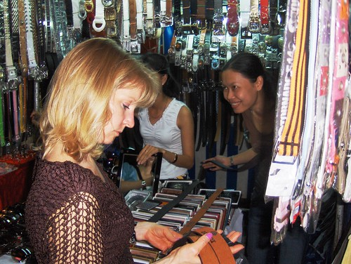Rita shopping in Saigon