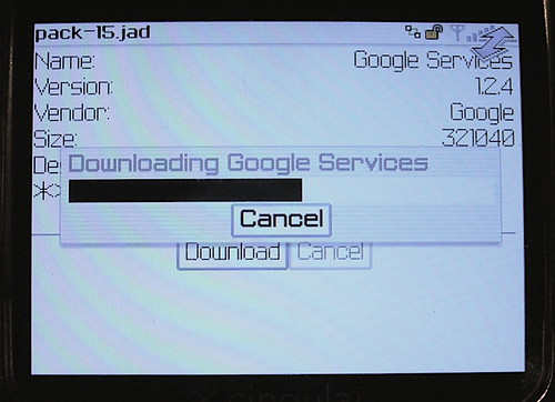 Downloading Google Services