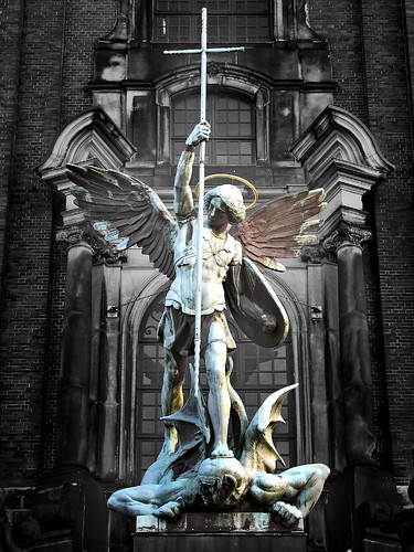 Saint Michael pwning the Devil