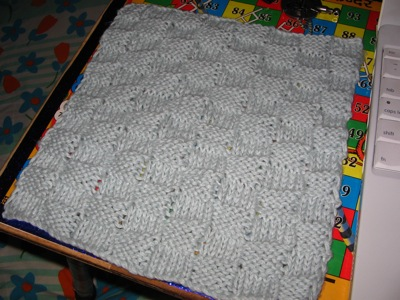 Checkerboard dishcloth