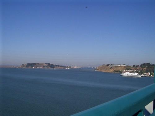 Mid-Bridge View of Mare Island