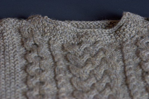 Aran Pullover - Detail