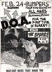 DOA Spores AOT in Surrey fro pUnk History Canada