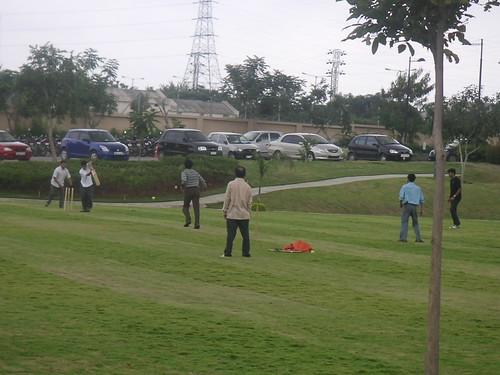 Microsoft playing cricket