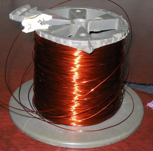 Copper wire spool - Bobine de fil de cuivre