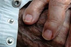 Grandma Grandpa Hands Closeup