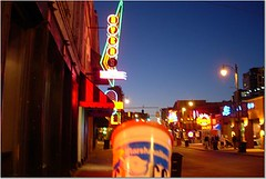 Bad picture of Fluff on Beale Street