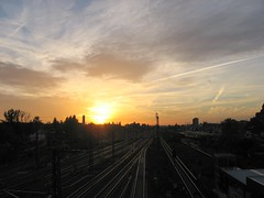 Sonnenuntergang Putlitzbrücke