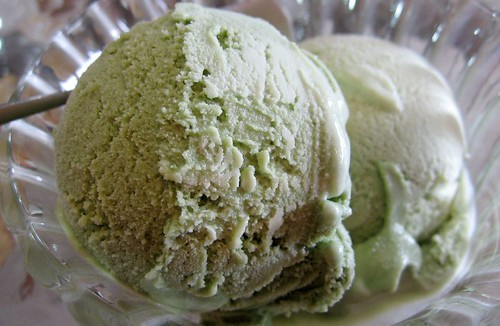 macha green tea ice cream- 抹茶冰淇淋