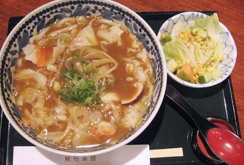 spicy curry seafood ramen at azabu sabo