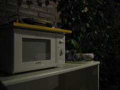 Cocina improvisada de jardín