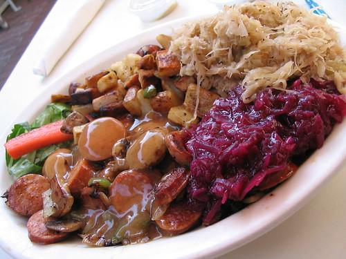 Sausage bite platter in Solvang