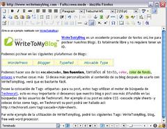 WriteToMyBlog, procesador de texto para blogs onLine