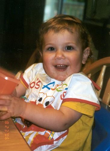 Jacob - big boy at table