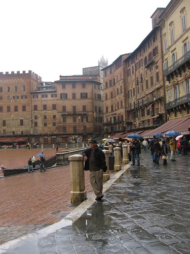 Siena in the Rain
