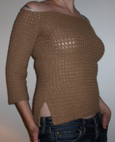 alpaca sweater FO side