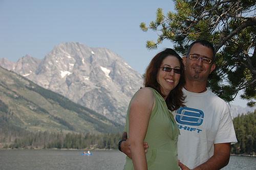 Grand Teton - Couple at Jenny Lake