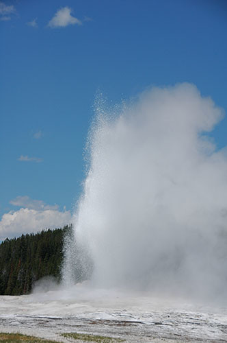 Yellowstone Old Faithful - Old Faithful going