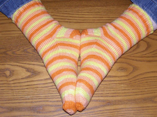Candy Corn Socks, complete!
