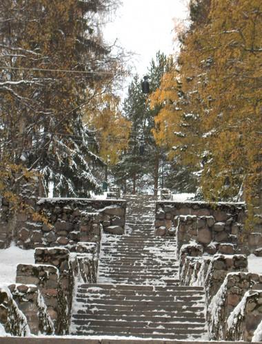 Granite Steps in Winter