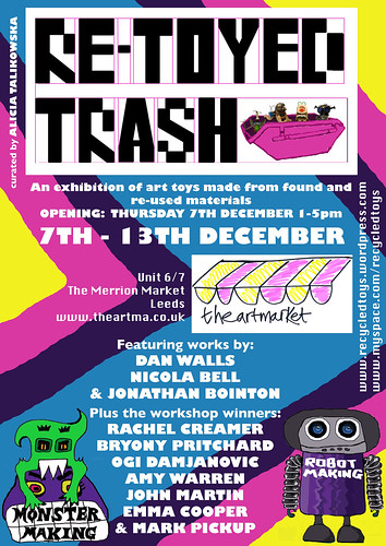 'Re-Toyed Trash' exhibition poster